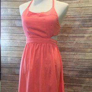 Coral party mini dress flirty and fun!